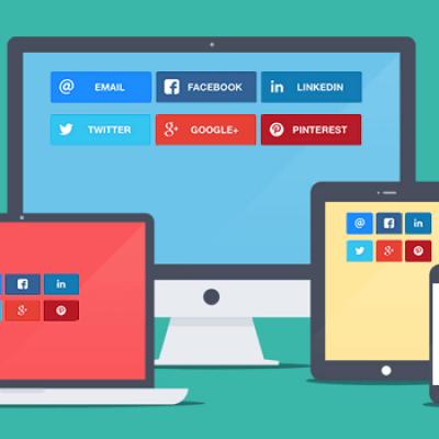 22 botones redes sociales
