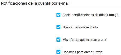 Alertas por e mail