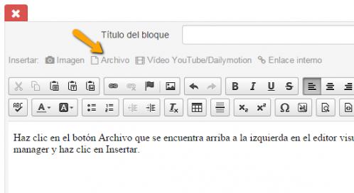 Descargar archivo editor