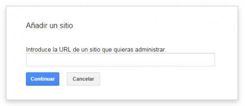 Añadir search console