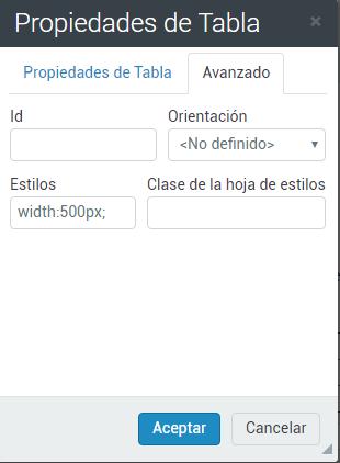 Avanzado tabla responsive