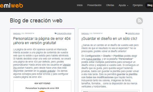 Blog dentro de web