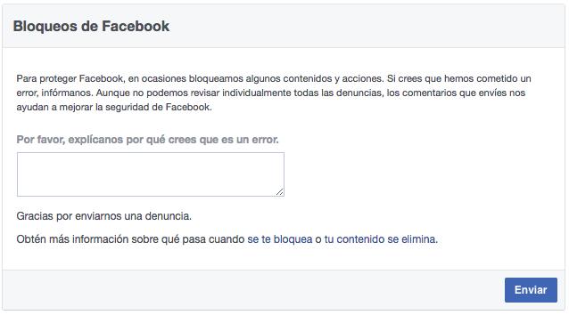 Bloqueos de Facebook