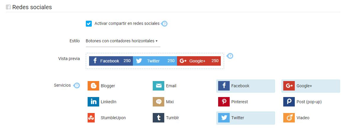 Botones compartir redes sociales emiweb