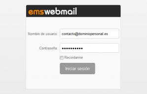 Conexion webmail