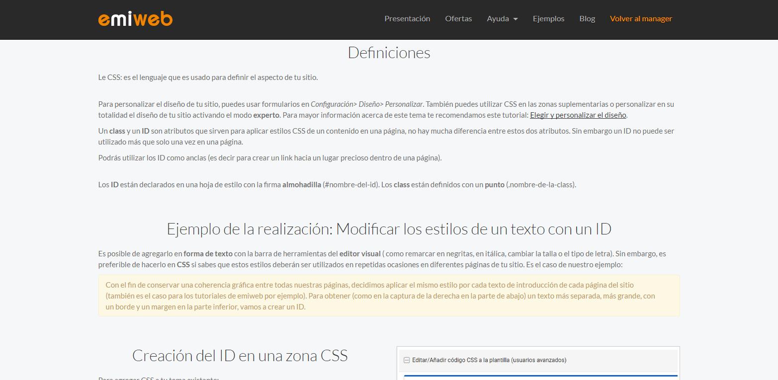 Css emiweb ejemplo 1