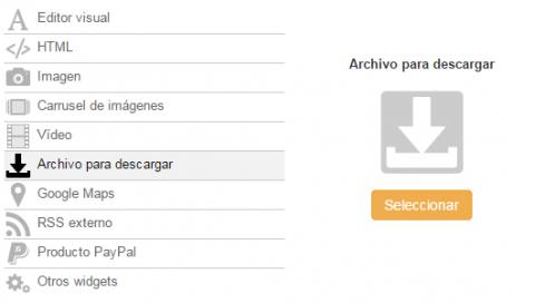 Descargar archivo widget