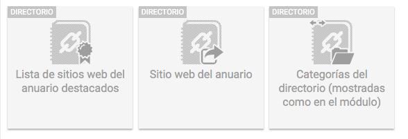 Widgets directorio