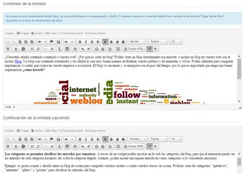 Editor blog