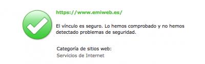 Emiweb sitio seguro