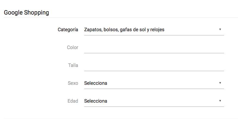 Especificidad de las categorias