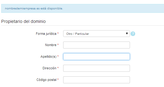 Formulario de registro 1