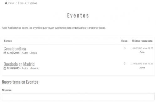 Foro pagina web
