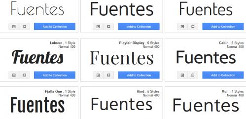 Fuentes google