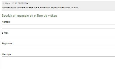 Libro de visitas formulario