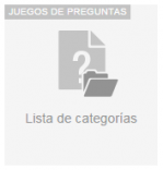 Lista de categorias