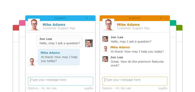 Live chat widget impression