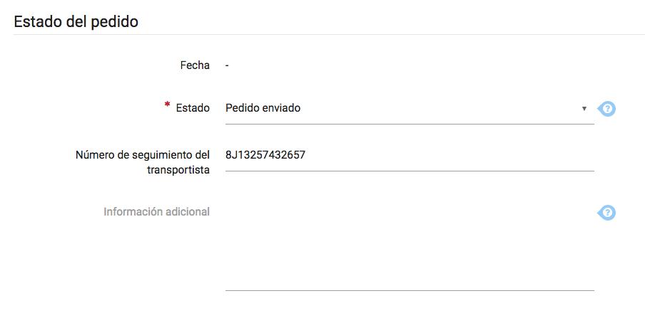 Numero de envio Tienda emiweb
