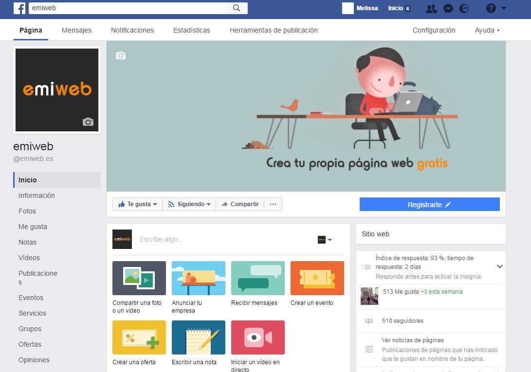 Pagina facebook emiweb