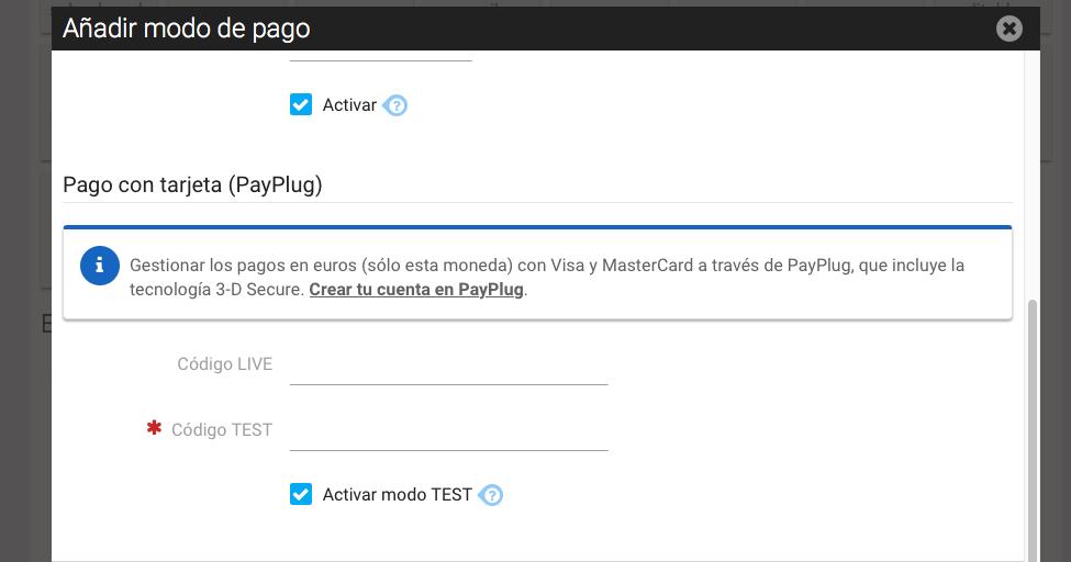 Pago por PayPlug