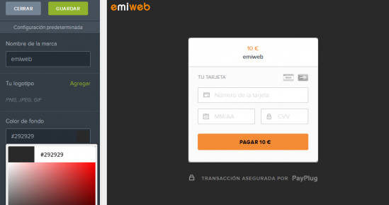 Personalizar payplug