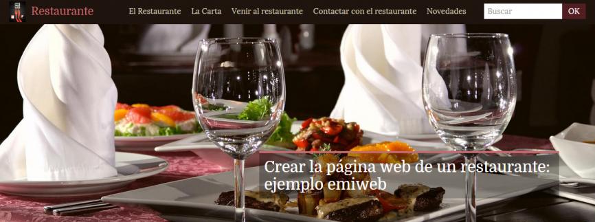 Plantilla restaurante