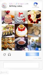 Recaptcha cakes