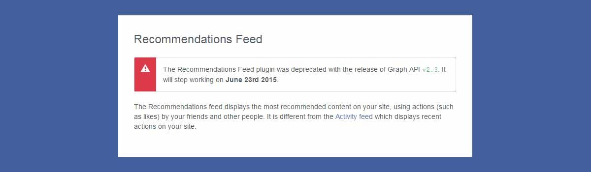 Recomendaciones facebook