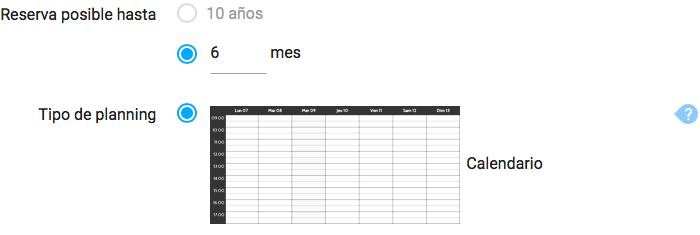 Planning calendario