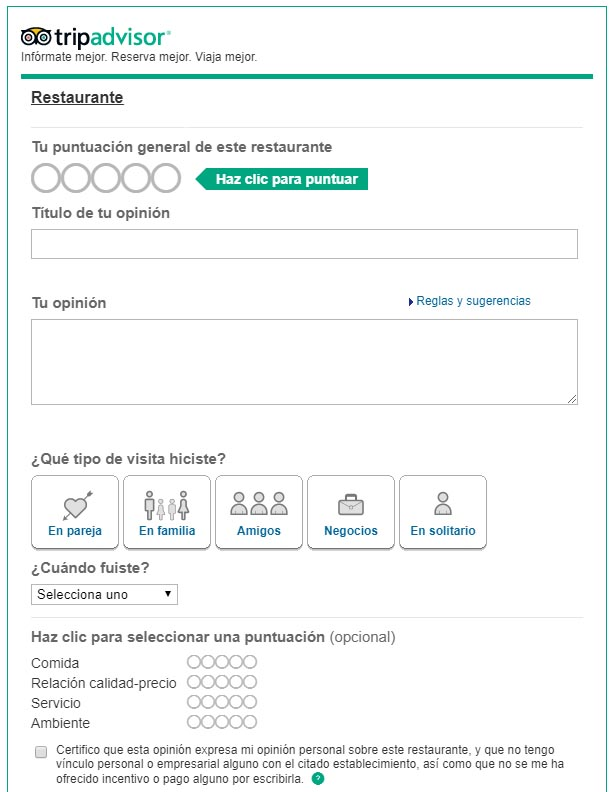 Tripadvisor widget emiweb