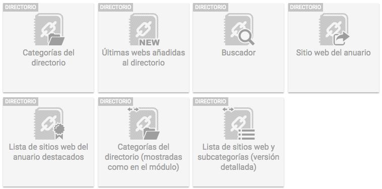 Widgets directorio 1